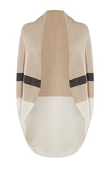 Karen Millen Draped Stripe Cardigan Cream