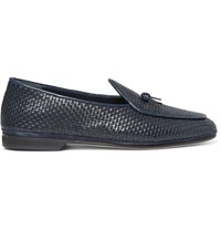 Rubinacci Marphy Woven Leather Loafers Blue