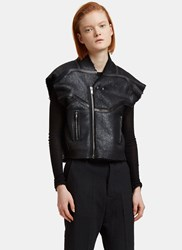 Rick Owens Oversized Cyclo Biker Jacket Black