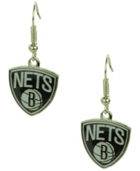 Aminco Brooklyn Nets Logo Earrings