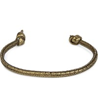 M Cohen M. Knotted Brass Casted Leather Cuff