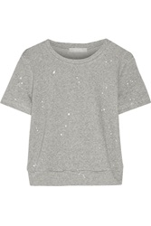 Kain Label Violet Printed Cotton Blend Top Gray