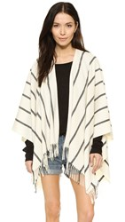 Rag And Bone Striped Shawl Cream