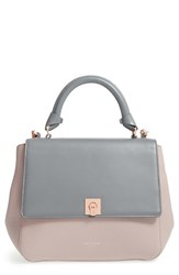 Ted Baker London 'Large Chantel' Leather Satchel Grey Gunmetal