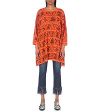 Anglomania Painting Print Cotton Jersey Top Flame