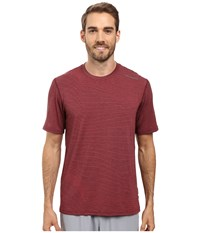 Brooks Distance Short Sleeve Heather Root Forge Men's Short Sleeve Pullover Brown