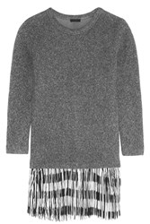 J.Crew Fringed Knitted Sweater Dress