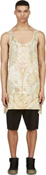 Ktz Yellow Vintage Map Print Apron Tank Top