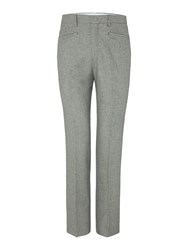 Chester Barrie Men's Houndstooth Tailored Wool Trouser Black