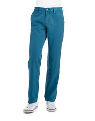 English Laundry Linen Straight Legged Pants Kingfisher