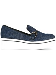 Stella Mccartney A Binxa Slip On Loafers Blue
