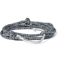 Miansai Cord And Silver Plated Hook Bracelet Gray