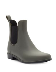 Sam Edelman Tinsley Rubber Ankle Boots Moss Green
