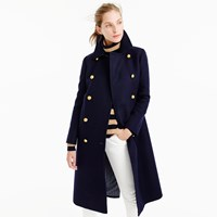 J.Crew Petite Double Breasted Topcoat In Wool Cashmere