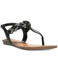 Fergalicious Shelly Braided T Strap Flat Sandals Women's Shoes