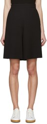 See By Chloe Black Textured Shorts