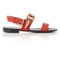 Giuseppe Zanotti Men's Plated Double Band Sandals Red