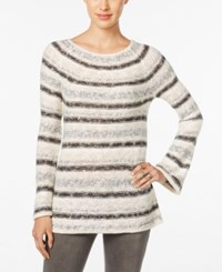 Styleandco. Style Co. Striped Metallic Sweater Only At Macy's Warm Ivory Combo