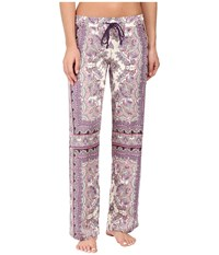 Pj Salvage Bella Paisley Lounge Pants Grape Women's Pajama Purple