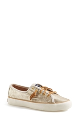Sperry 'Seacoast' Boat Shoe Women Platinum Gold