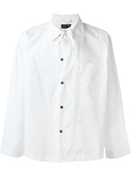 Craig Green Snap Button Front Overshirt White