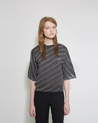 Jil Sander Diagonal Pleat Pullover Charcoal
