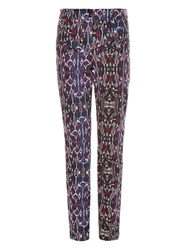 Isabel Marant Nella High Waisted Geometric Print Jeans