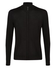 Aquascutum London Tomkis Zip Front Cardigan Black