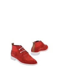 Swear Ankle Boots Red