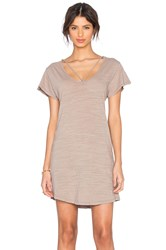 Lna Strappy Tee Dress Beige