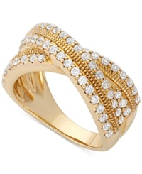 Wrapped In Love Diamond Crossover Ring In 14K Gold 1 Ct. T.W. No Color