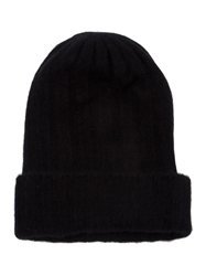 The Elder Statesman Slouch Fit Beanie Black