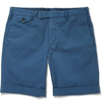 Incotex Cotton Blend Shorts Blue