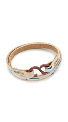 Cause And Effect Paint Splatter Leather Wrap Bracelet White Multi