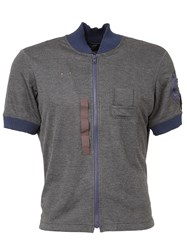 Kolor Shortsleeved Bomber Jacket Grey