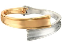 Robert Lee Morris Two Tone Hinged Bypass Bangle Bracelet Two Tone Bracelet Metallic