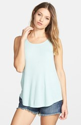 Junior Women's Volcom 'Twisted Mind' Tank Dusty Aqua