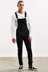 Dr. Denim Ira Destroyed Skinny Overall Black