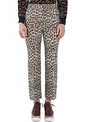 Stella Mccartney Leopard Print Flared Cuff Pants Brown