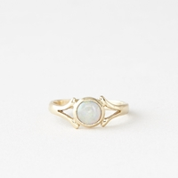 Talon Island In The Moon Opal Ring Gold
