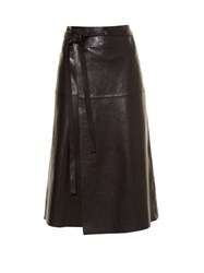Isabel Marant Candy Leather Skirt Black