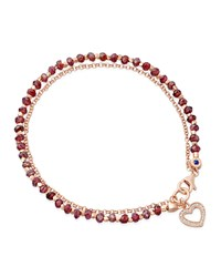Red Spinel Heart Friendship Bracelet Astley Clarke