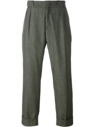 Pence Loose Fit Tailored Trousers Green