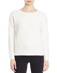 Lord And Taylor Petite Knit Crewneck Sweater Ivory