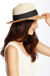 14Th And Union Striped Colorblock Panama Hat Black