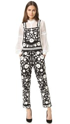 Needle And Thread Floral Lace Overalls Black Chalk