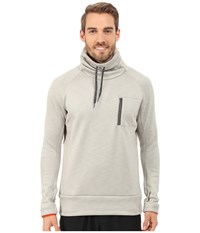 Adidas Climaheat High Neck Pullover Top Heat Sesame Melange Men's Long Sleeve Pullover Gray