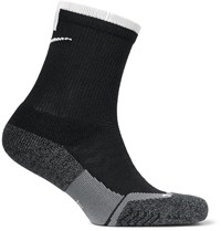 Nike Tennis Elite Cushioned Dri Fit Socks Black