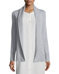 Eileen Fisher Shawl Collar Open Front Cardigan Women's Toffee Cream