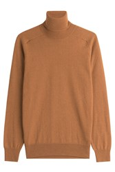 Ami Alexandre Mattiussi Merino Wool Turtleneck With Cashmere Camel